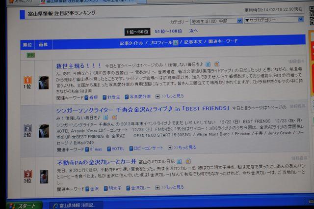 20140218 富山県情報 注目記事ランキング