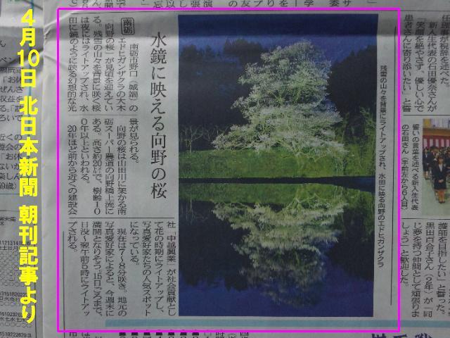 20140410 北日本新聞 朝刊記事
