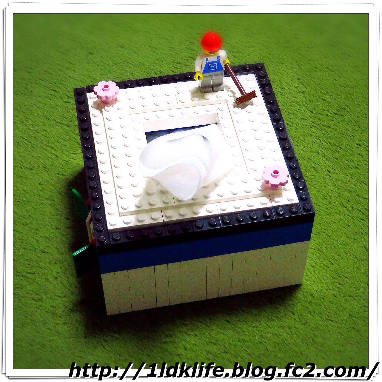 レゴでトイレットペーパーボックス。