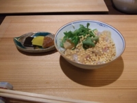 9/5 昼会席 鯛茶漬けと漬物  銀座水野