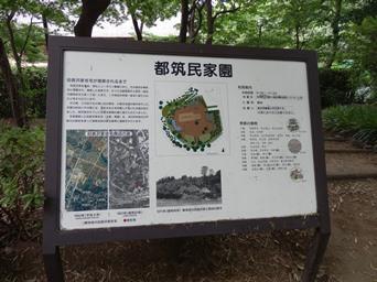8/24 都筑民家園の詳細看板