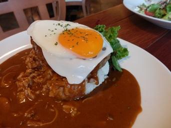8/24 夕食 ロコモコ    Muu Muu Diner
