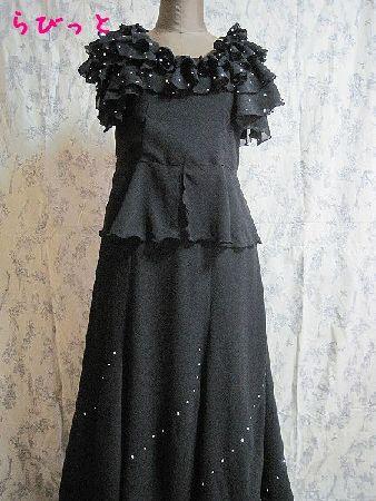 黒ドレスA