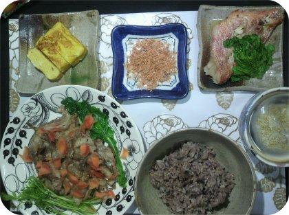 3-13赤魚豚ニンニク焼き卵焼き