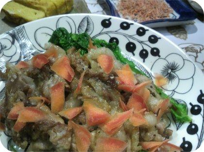 3-13赤魚豚ニンニク焼き卵焼き2