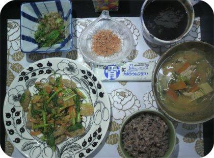 3-15竹の子豚炒めと豚汁2日目