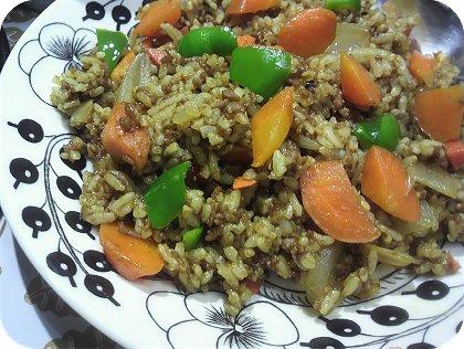 3-24カレーご飯と野菜炒め2