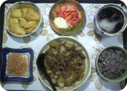 3-27地味目の夕ご飯