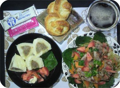 4-1肉まんとパンと野菜