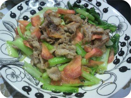 4-8黒ゴマ醤油焼きご飯と野菜炒め2