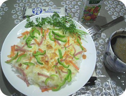 4-15焼きカルボナーラ・ご飯
