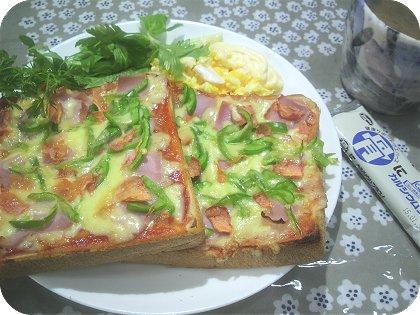 4-16ピザ風なトースト