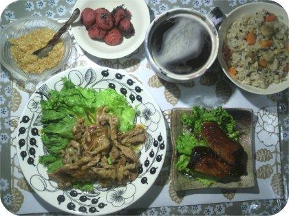 5-3ブリ照り豚しょうが焼き混ぜご飯