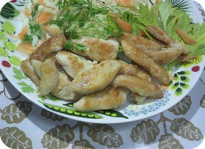5-6鶏のささみのカリカリ焼き