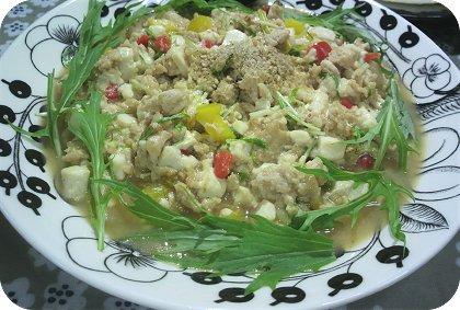 5-29甘辛味噌豆腐と鳥の挽き肉