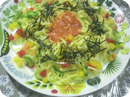 6-21人前煮物と辛子明太子麺マヨ炒め2