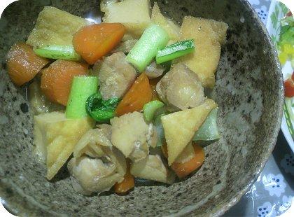 6-21人前煮物と辛子明太子麺マヨ炒め3