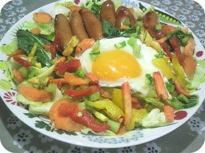6-3ウインナーとたまごと野菜いっぱい2