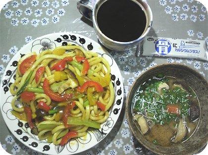 6-5カレーうどんと豆腐消化味噌汁