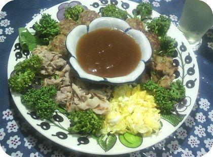 6-27中華風のあんかけにつけて食べる方式とうどん3