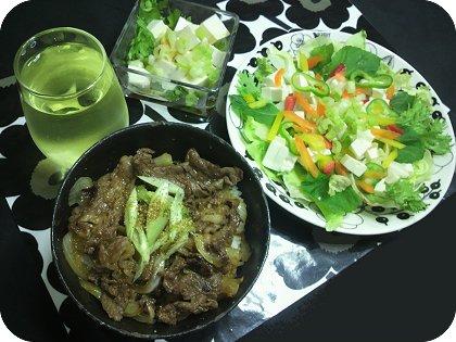 8-31かなり渋めの感じになりました夕飯は牛丼と豆腐