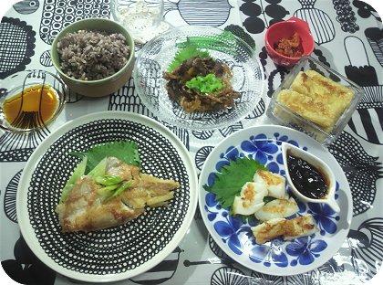 9-13北欧食器で和食を頂く