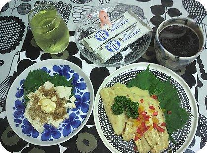 9-22豆腐ハンバーグと豆腐サラダ
