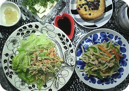 10-2食物繊維な夕飯