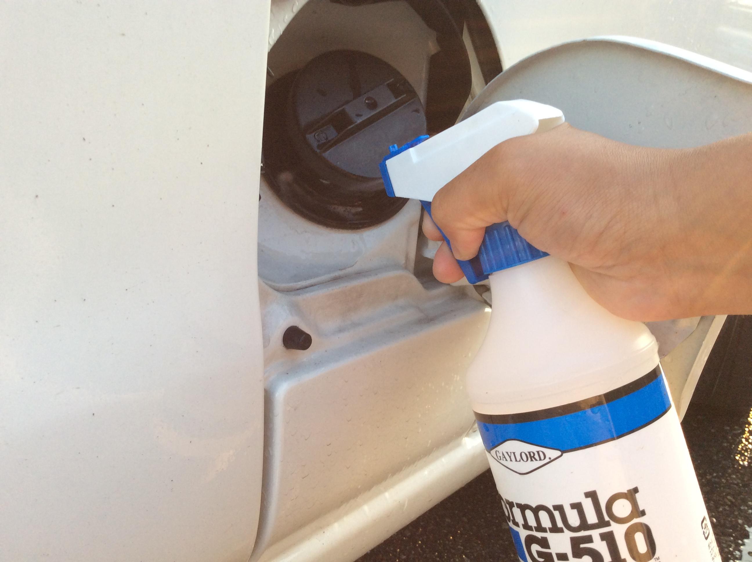 ハイゼット給油口 洗浄