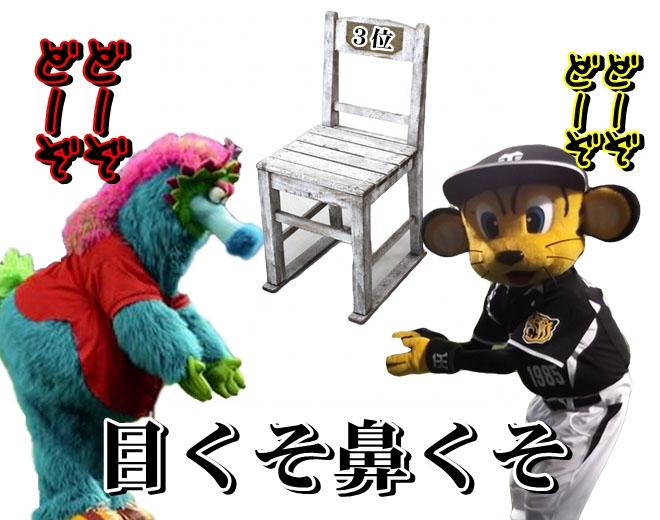 3位の椅子