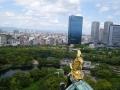 大阪城の上からの風景