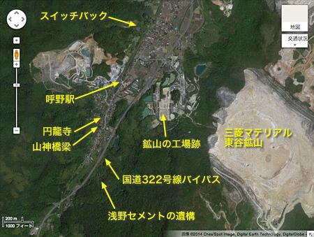 呼野駅周辺の地図02