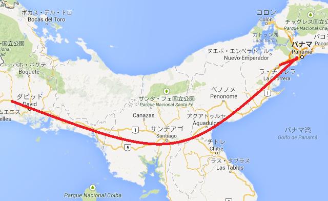パナマ 地図 ツーリング ブログ