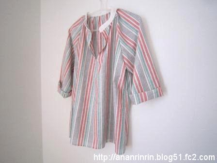 綿麻シャツ1