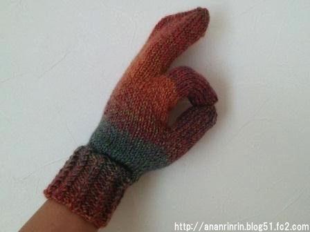 ミツマタ手袋2
