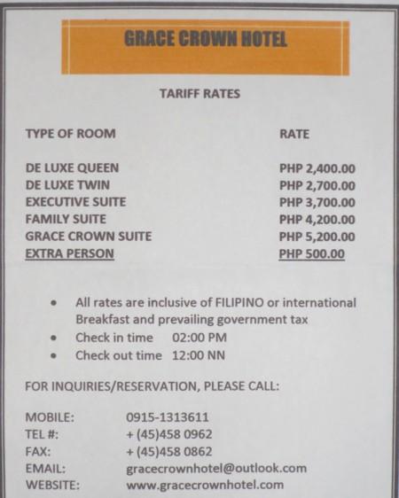grace crown hotel tariff (2)