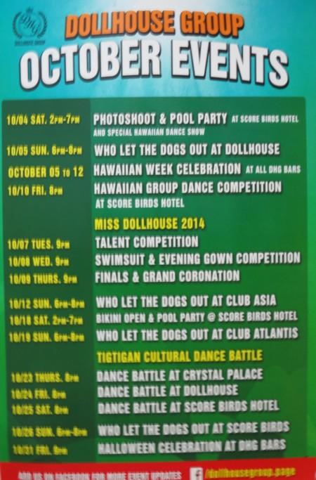 event schedule1014