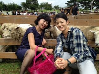 羊さんと二人