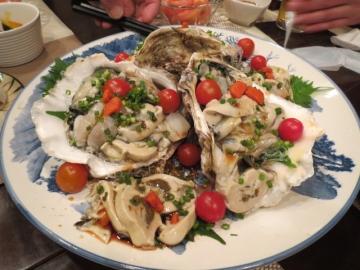 岩牡蠣、全員分盛合せ