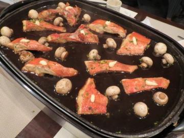 金目鯛の煮付け、テーブルに全員分