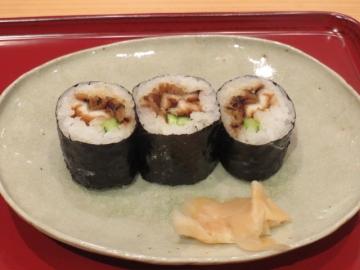 「ちょっとだけのお寿司」の追加。穴子細巻き 三切 500円