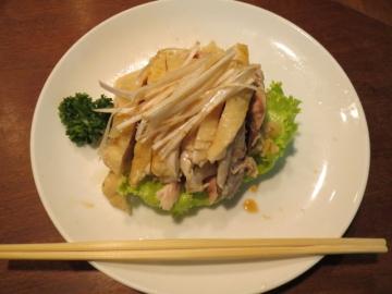 蒸し鶏の冷菜 1780円