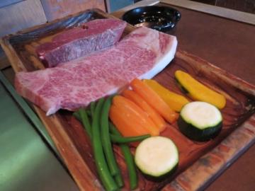 特選牛のヒレ&ロース&焼野菜