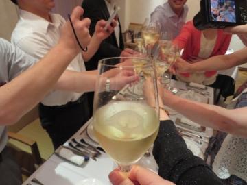 ドンペリで乾杯!