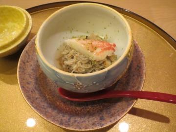 毛蟹の蒸寿司