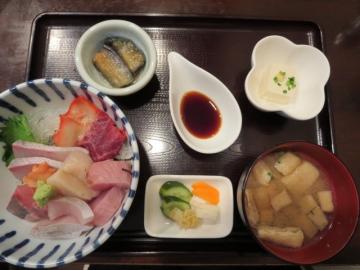 旦過 海鮮丼セット 1200円