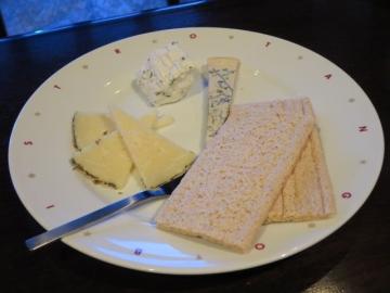 チーズを貰って