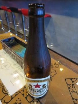 ビールで乾杯、サッポロラガーで