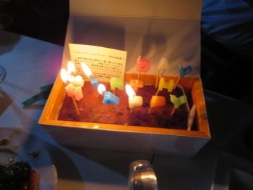 オリジナルフルーツケーキで、HAPPY BIRTH DAY!