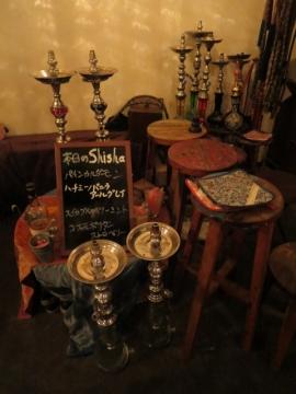 店内。Shisha(水タバコ)スペース